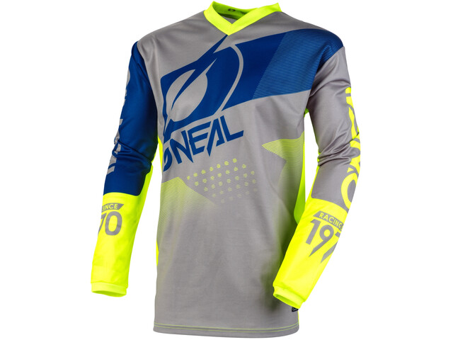 O'Neal Element Jersey Heren, gray/blue/neon yellow